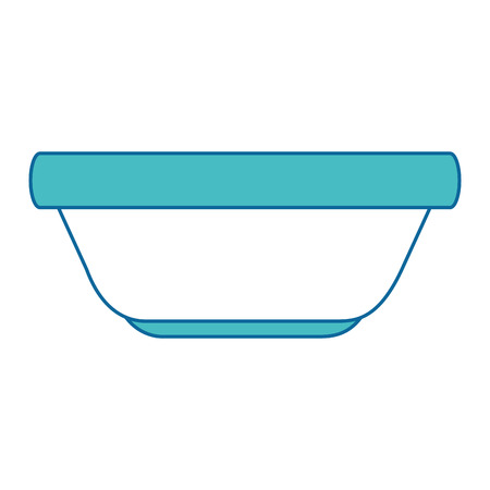 kitchen plastic bowl icon vector illustration design Ilustracja