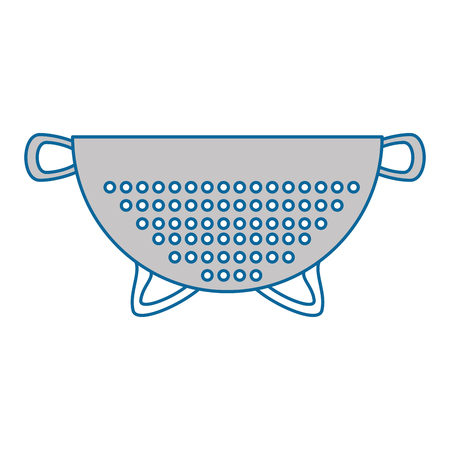 colander: metallic strainer isolated icon vector illustration design Illustration