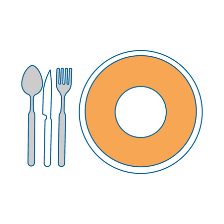 dish with cutlery icon vector illustration design 版權商用圖片 - 85566317
