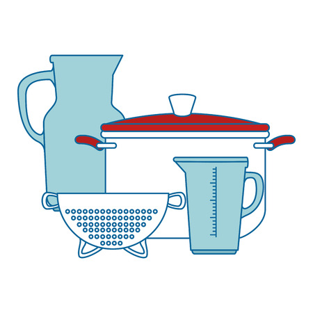 set of kitchen containers vector illustration design Illustration