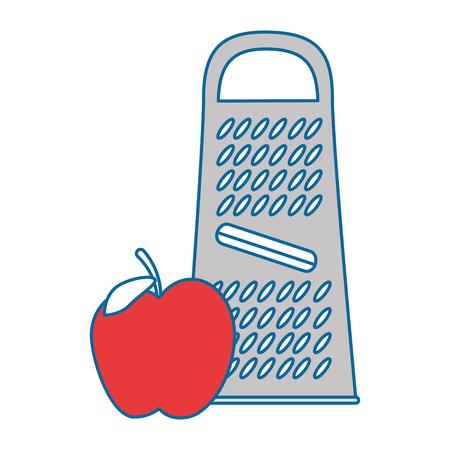 Kaasraster met appel vectorillustratie ontwerp