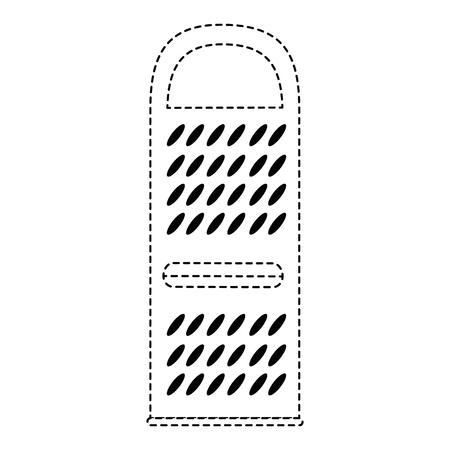 Ikonenvektor-Illustrationsdesign der Käsereibe lokalisiertes Standard-Bild - 85559356
