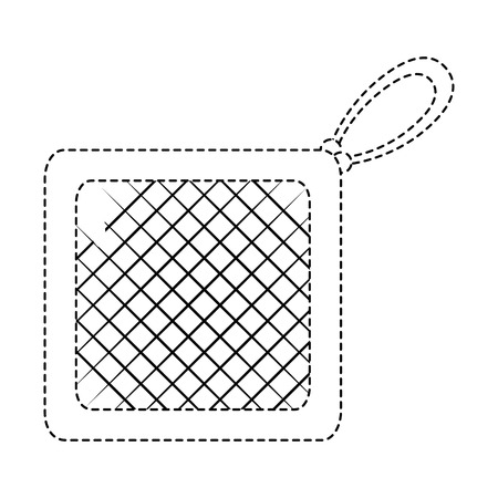 kitchen rag isolated icon vector illustration design Illustration