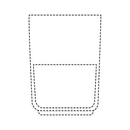 glass with beverage isolated icon vector illustration design Ilustração