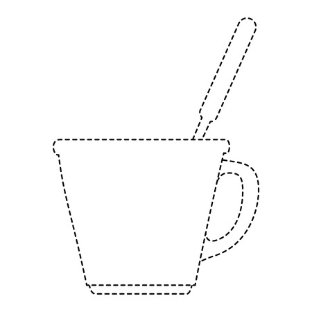porcelain well with cutlery vector illustration design Çizim