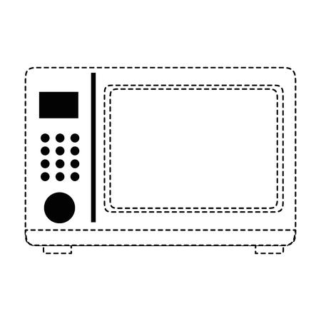 マイクロ波オーブン分離アイコンベクトルイラストデザイン