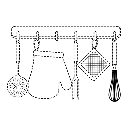 Set of hanging kitchen equipment