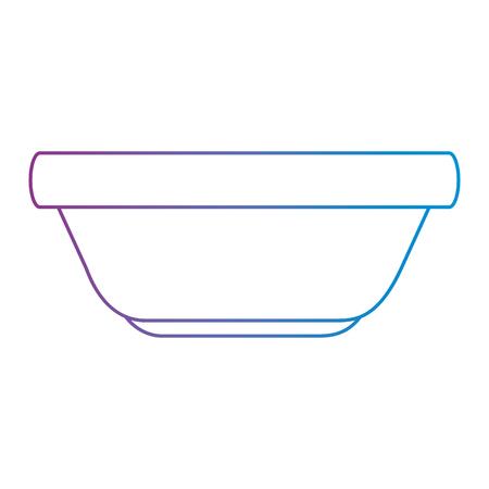 キッチンプラスチックボウルアイコンベクトルイラストデザイン