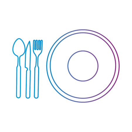 dish with cutlery icon vector illustration design Stok Fotoğraf - 85567037