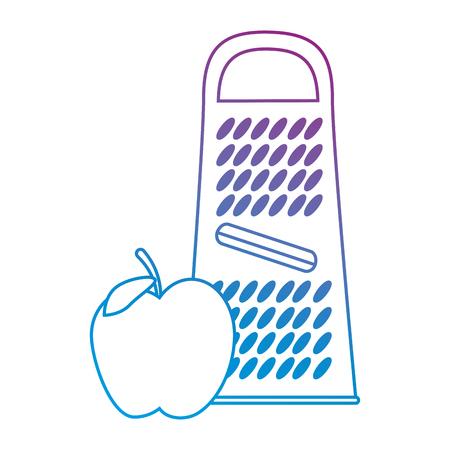 アップルベクターイラストデザインでチーズおろし