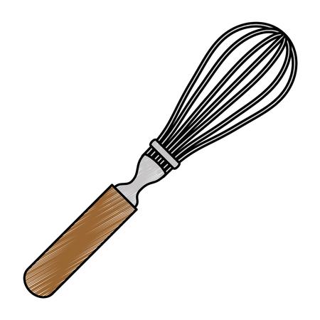 hand mixer kitchen cutlery icon vector illustration design