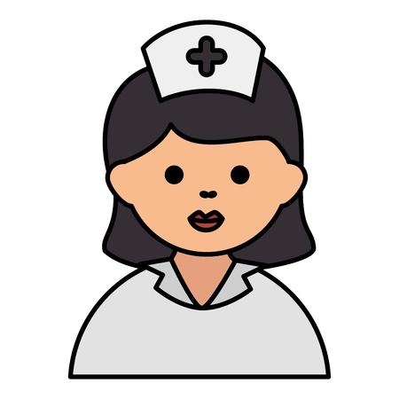 verpleegkundige mooie avatar karakter vector illustratie ontwerp Stock Illustratie