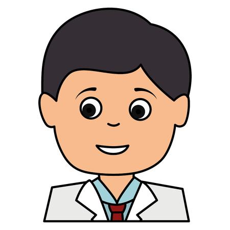 남성 의사 아바타 캐릭터 벡터 일러스트 디자인