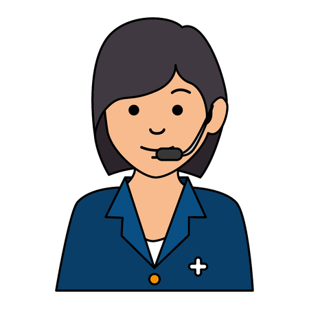 medical call center operator vector illustration design