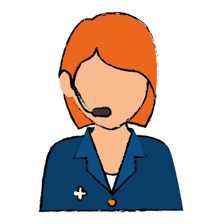 Opérateur médical centre d & # 39 ; appel vecteur illustration design Banque d'images - 85574327