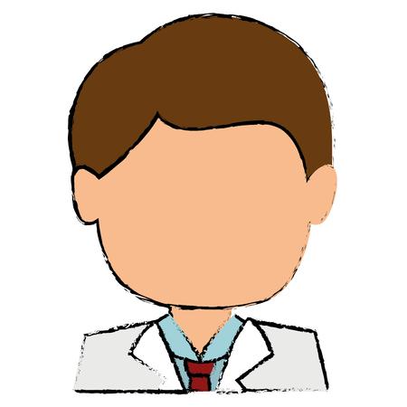 male doctor avatar character vector illustration design
