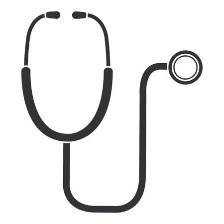 Stetoskop medycznych samodzielnie ikona projektowania ilustracji wektorowych Ilustracje wektorowe