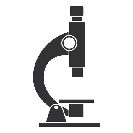 microscopio de laboratorio aislado icono de ilustración vectorial de diseño