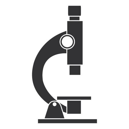 Mikroskop Labor isoliert Symbol Vektor-Illustration, Design,