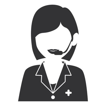 medical call center operator vector illustration design