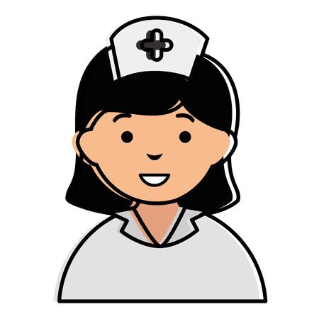 Infirmière belle illustration d'illustration vectorielle de personnage Banque d'images - 85568910