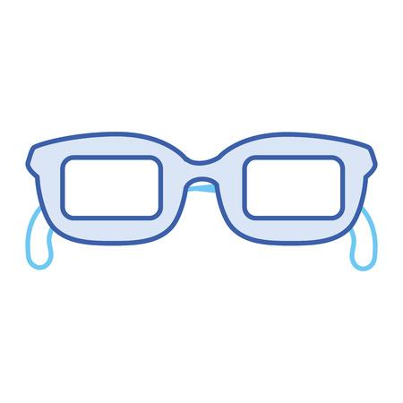 Het pictogramontwerp van oogglazen geïsoleerd pictogram Stockfoto - 85575452