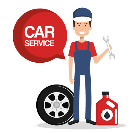 mechanic car service icons vector illustration design Illusztráció