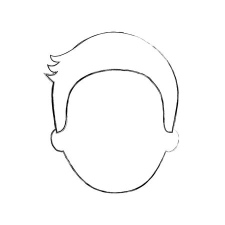 man avatar face male smiling image vector illustration Illustration