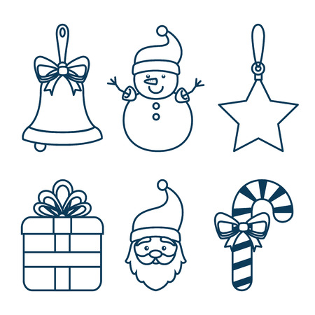 christmas holiday decoration set vector illustration graphic design