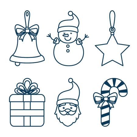 christmas holiday decoration set vector illustration graphic design