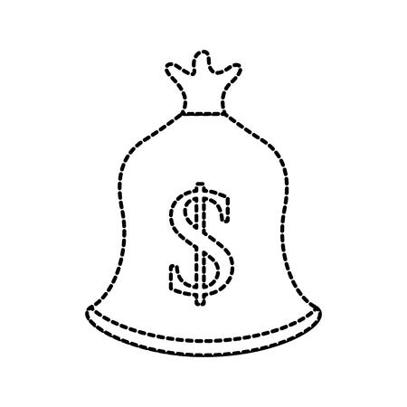 bag money dollar bank treasure sack vector illustration Reklamní fotografie - 85616014