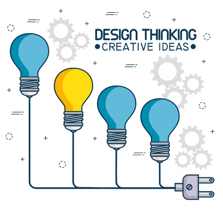 design thinking creative ideas vector illustration graphic design