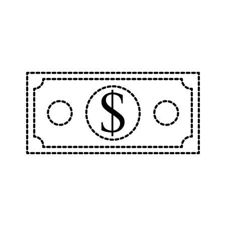 dollar banknote money cash economy financial vector illustration