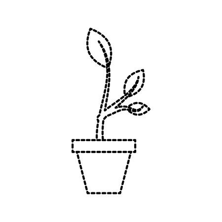 木の成長の芽セラミック ポット概念ベクトル図から上昇  イラスト・ベクター素材