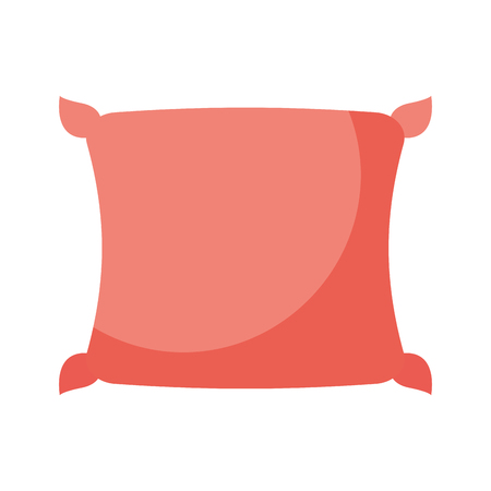 comfortable pillow cushion bedroom cloth vector illustration