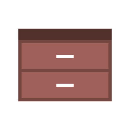 木製のたんす家具素材のモダンなスタイルのベクトル図  イラスト・ベクター素材