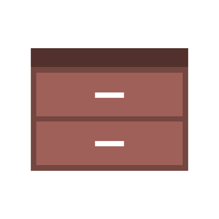wooden chest of drawers furniture material modern style vector illustration 版權商用圖片 - 85616194