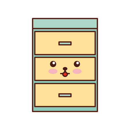 wooden chest of drawers furniture material modern style vector illustration