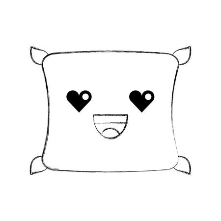 快適な枕クッション寝室布ベクトル図  イラスト・ベクター素材