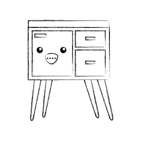 Houten ladekast meubilair materiële moderne stijl vectorillustratie Stockfoto - 85616865