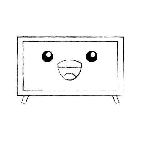 television plasma technology device object vector illustration Illustration