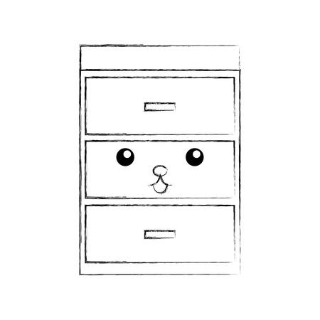 Commode en bois matériau de meuble illustration vectorielle moderne Banque d'images - 85617037