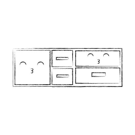 木製のキャビネットと棚家具空のベクター イラスト