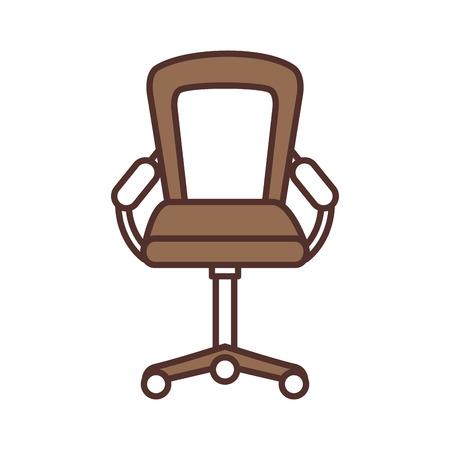 Muebles sillón oficina rueda equipo ilustración vectorial Foto de archivo - 85616867