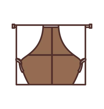 window curtains for house interior decoration style vector illustration Stok Fotoğraf - 85616870
