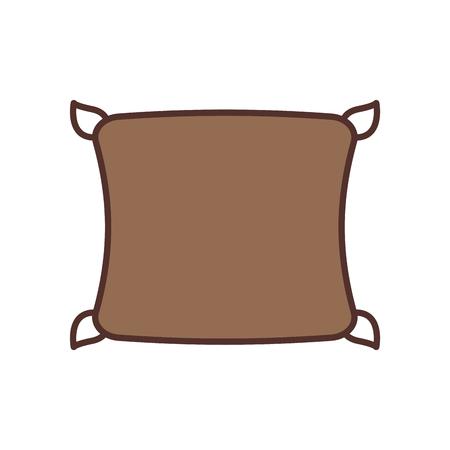 편안한 베개 쿠션 침실 천으로 벡터 일러스트 레이션 스톡 콘텐츠 - 85616807