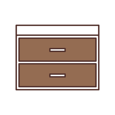 wooden chest of drawers furniture material modern style vector illustration 版權商用圖片 - 85616808