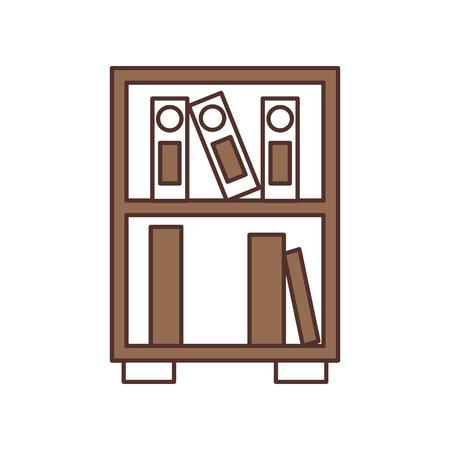 누적 된 서 서 스타일 벡터 일러스트 레이 션의 도서관 목조 책장