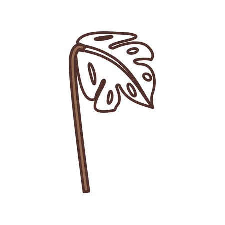 パームのまま熱帯の自然の装飾画像ベクトル図