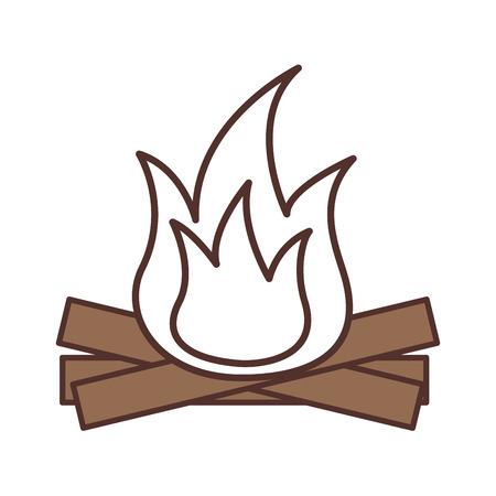 Heiße und warme Feuer Flamme aus Holz Vektor-illustration Standard-Bild - 85616728